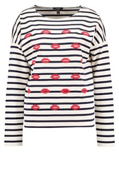 J.Crew Long Sleeved Top Ecru Navy Off White