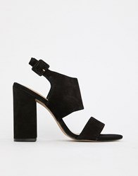 Aldo Leather Block Heel Sandals Black