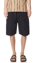 3.1 Phillip Lim Relaxed Pleated Shorts With Belt Midnight