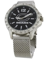 Game Time Chicago Bears Cage Series Watch Silver Black