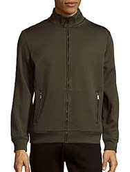 Perry Ellis Solid Fleece Lined Jacket Forest Pine