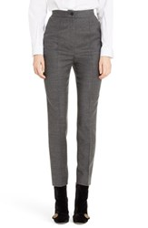 Dolce And Gabbana Women's Stretch Wool Flannel Pants Grey Melange