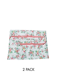Cath Kidston Kingswood Rose Set Of 2 Travel Laundry Bags Blue