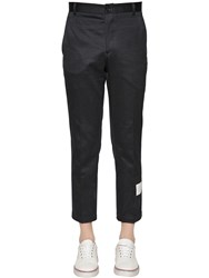 Thom Browne Unconstructed Chino Cotton Twill Pants Navy