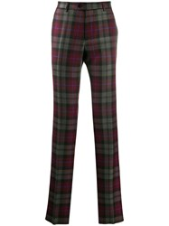 Etro Casual Tartan Trousers Green