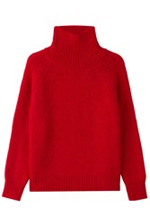 Vanessa Bruno Turtleneck Pullover With Alpaca And Wool Red