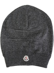 Moncler Slouchy Beanie Grey