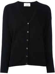 Allude Buttoned Cardigan Black
