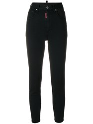 Dsquared2 High Waisted Skinny Jeans Black