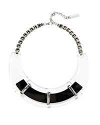 Lucite Collar Necklace Lafayette 148 New York Clear Black