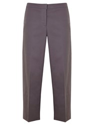 Mint Velvet Wide Leg Cropped Trousers Grey