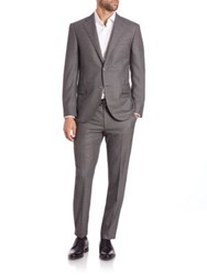 Corneliani Leader Two Button Wool Suit Grey