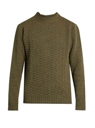 Inis Meain Beairtini Wool Sweater Green Multi