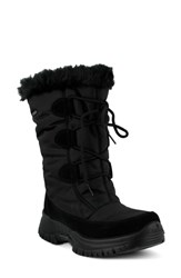 Spring Step Zurich Waterproof Faux Fur Boot Black Fabric