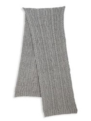 Saks Fifth Avenue Solid Wool Blend Scarf Light Grey