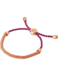 Links Of London Effervescence Xs 18Ct Rose Gold And Cord Bracelet Silver