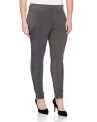 Xcvi Boardwalk Pleated Voile Inset Leggings Shadow
