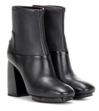 Tory Burch Sidney Leather Ankle Boots Black