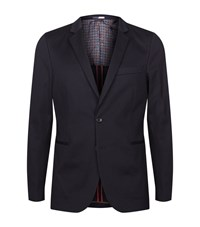 Paul Smith Ps By Slim Fit Jersey Blazer Male Navy