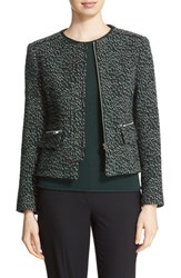 Helene Berman Women's Animal Jacquard Jacket