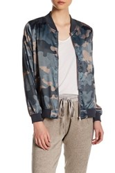 Hip Camo Bomber Jacket Green