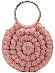 Ulla Johnson Lia Knitted Tote Bag Pink