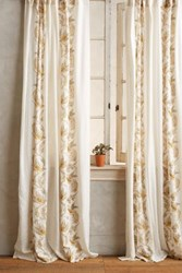 Anthropologie Scrolled Quills Curtain Gold