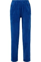 Opening Ceremony Torch Stretch Velour Track Pants Blue