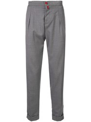 Kiton Fitted Trousers Grey