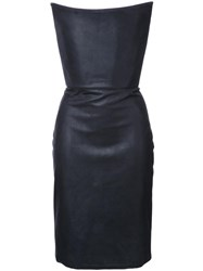 Gareth Pugh Strapless Corset Dress Black