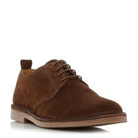 Loake Mojave Contrast Stitch Derby Shoes Brown