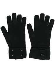 Maison Martin Margiela Classic Knit Gloves Black