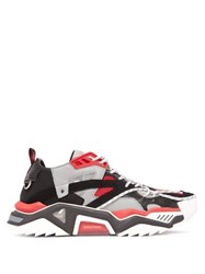 Calvin Klein 205W39nyc Strike 205 Leather And Mesh Trainers Red