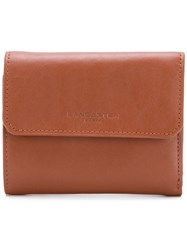 Lancaster Small Flap Wallet Brown