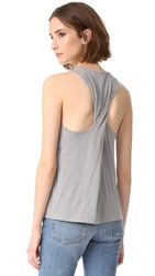 Vince Twist Back Tank H. Grey