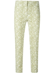Incotex Cropped Triangle Print Trousers