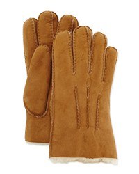 Ugg Gauge Point Shearling Gloves Brown