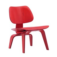 Vitra Eames Lcw Chair Red Stained Ash