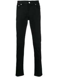 Alexander Mcqueen Logo Embroidered Skinny Jeans Black