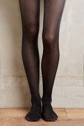 Anthropologie Glimmered Tights Black