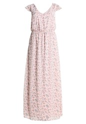 Bik Bok Iris Maxi Dress Light Pink Flower Print Mottled Pink