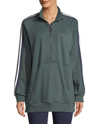 Lndr Athletics Zip Neck Sweatshirt Dark Green
