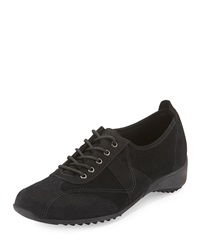 Munro American Pace Suede And Nubuck Leather Oxford Black