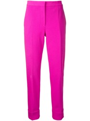 Narciso Rodriguez Cropped Trousers Pink Purple