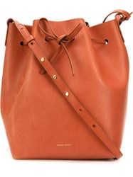 Mansur Gavriel Classic Bucket Bag Brown