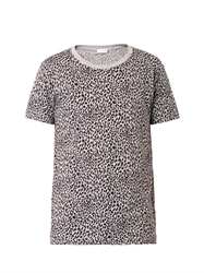 Saint Laurent Animal Print Cotton T Shirt