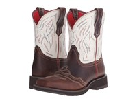 Ariat Ranchbaby Ii Pecan White Crackle Cowboy Boots Brown