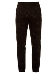 Valentino Slim Fit Camubutterfly Print Trousers