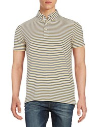 Brooks Brothers Striped Polo Shirt Yellow