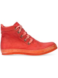 A Diciannoveventitre Distressed Sneakers Red
